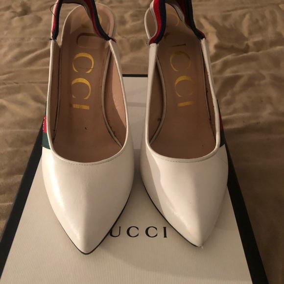 87d41c7e1 Gucci Shoes | Price Firm Sylvie 105mm Leather Slingback Pump | Poshmark